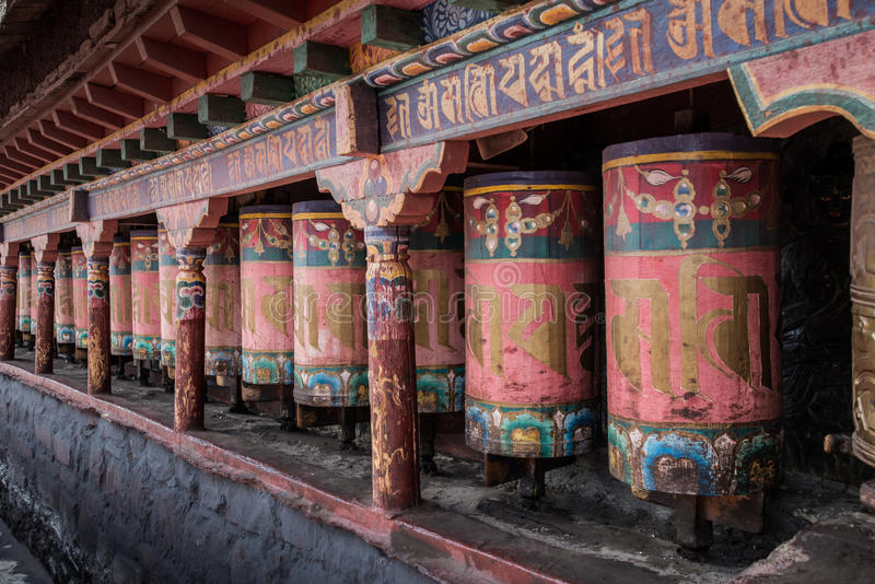 Kora Prayer wheels stock photos
