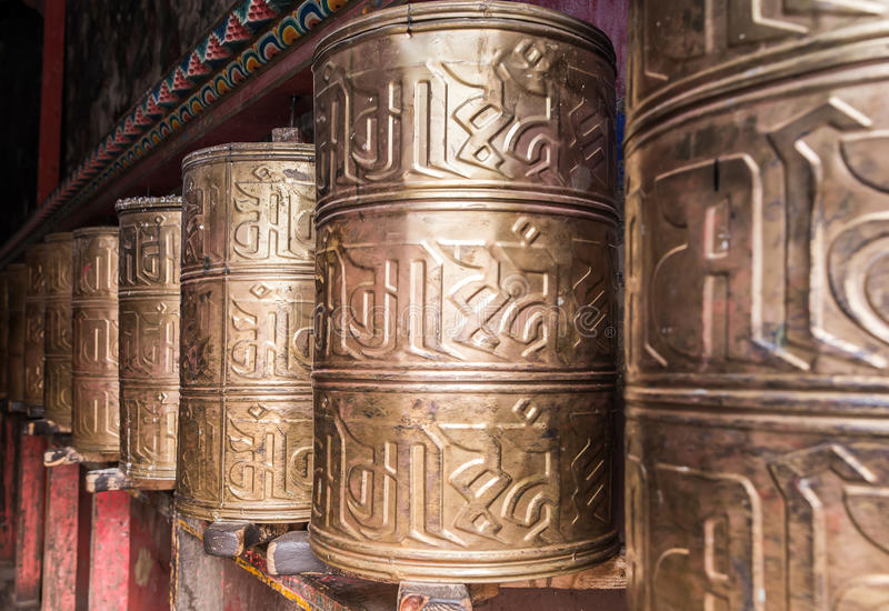 Kora Prayer wheels royalty free stock photo