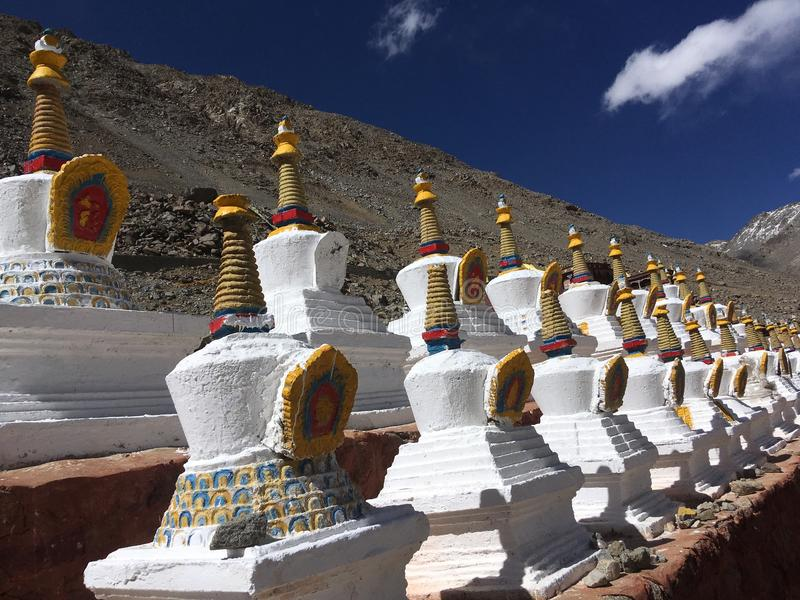 Kora runt om Mount Kailash i Tibet i Kina arkivfoton