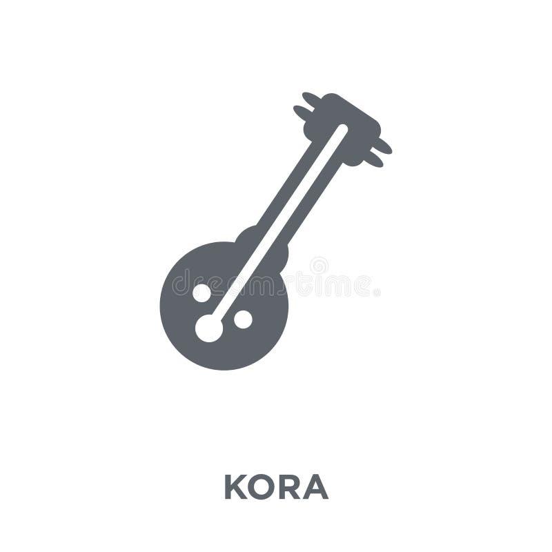 Kora symbol från Afrika symbolsamling stock illustrationer