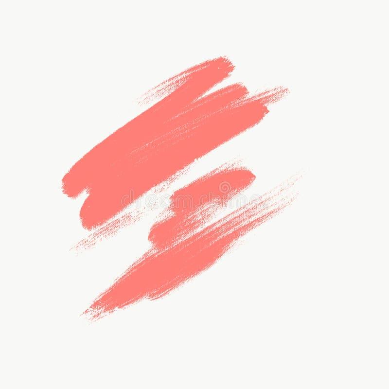 Koraalkwaststreken met ruwe rand op witte achtergrond voor decoratieontwerp vector illustratie