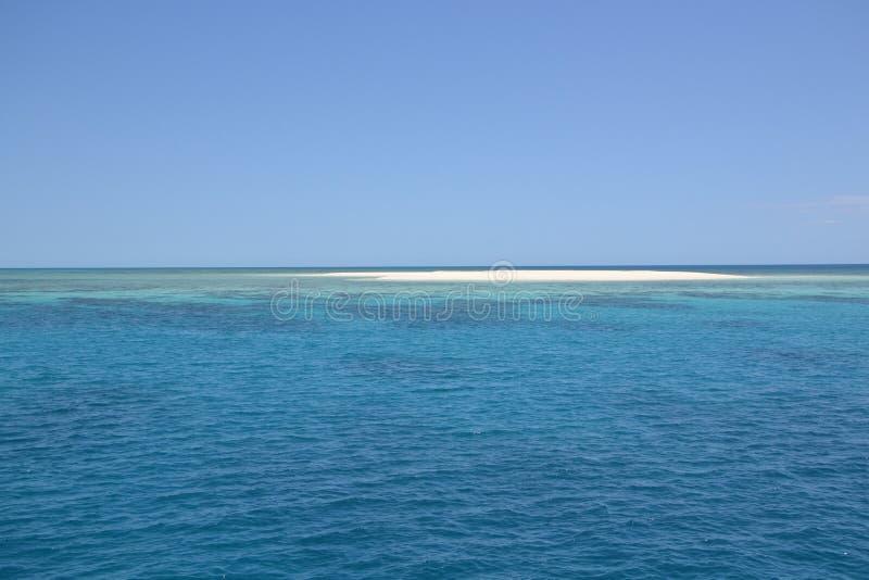 Koraalrif en eiland Australi? stock afbeeldingen