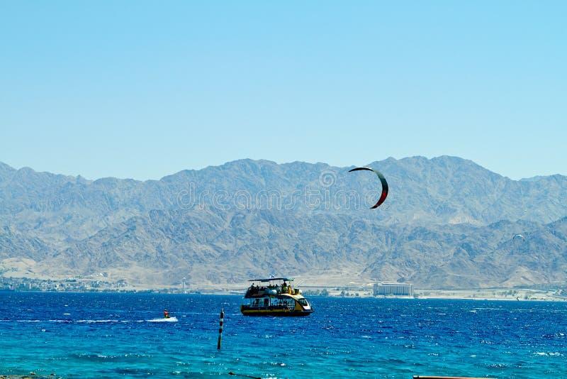 Koraalrif op het Rode Overzees Eilat stock foto