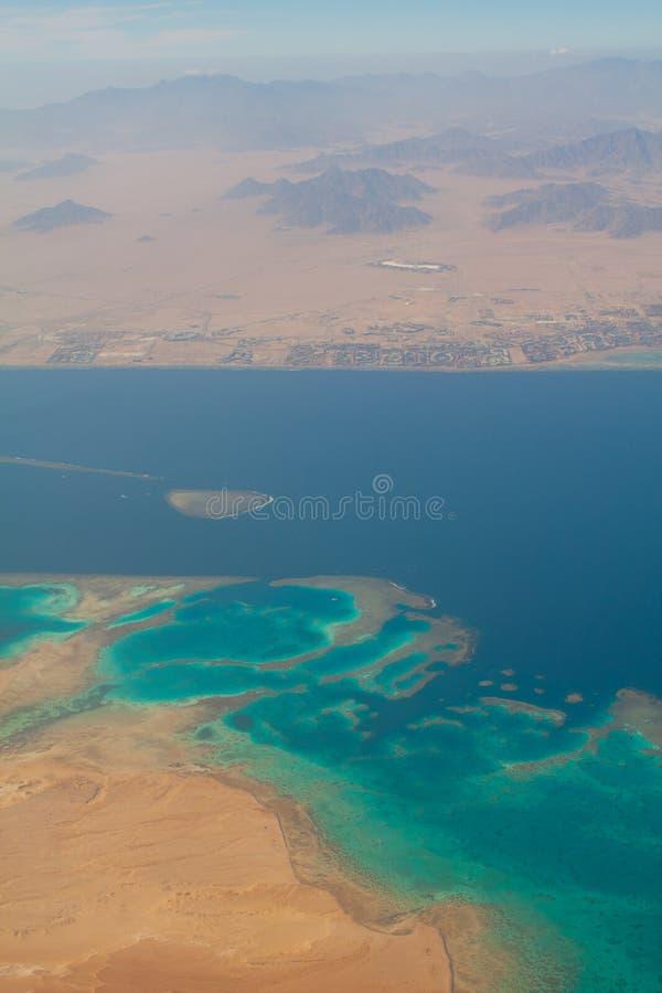 Koraalrif. Rode overzees. Woestijn. Sinai. Egypte royalty-vrije stock fotografie