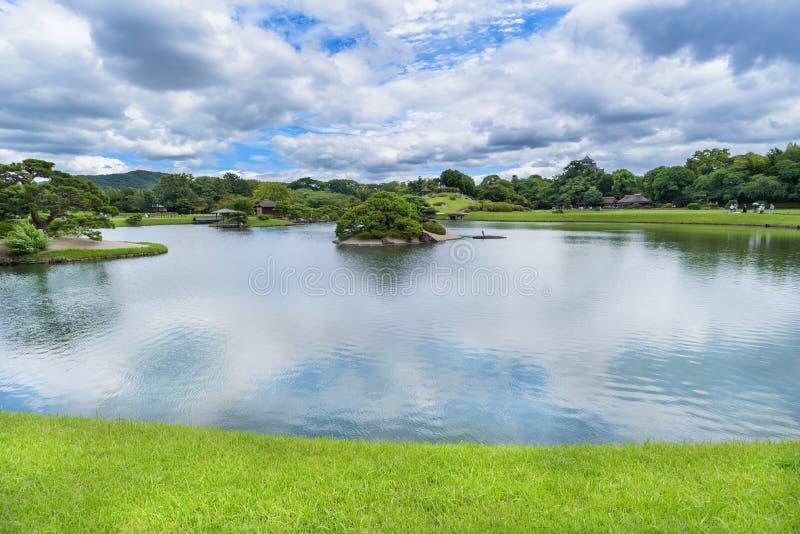 Korakuen, giardino giapponese a Okayama, Giappone fotografia stock libera da diritti