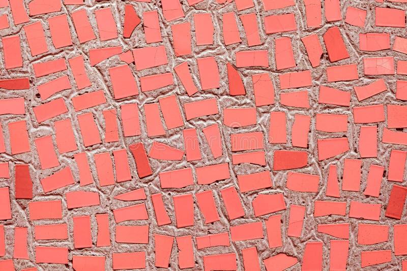 koral mozaiki ceramicznych p?ytek neutralny barwiony t?o obrazy stock