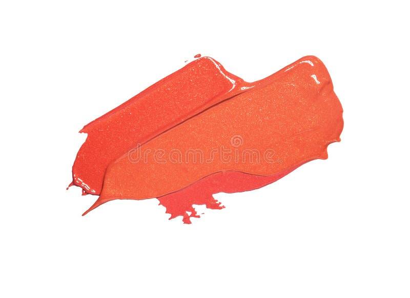 Koral pomadki tła tekstury smudge różowe próbki zdjęcia stock