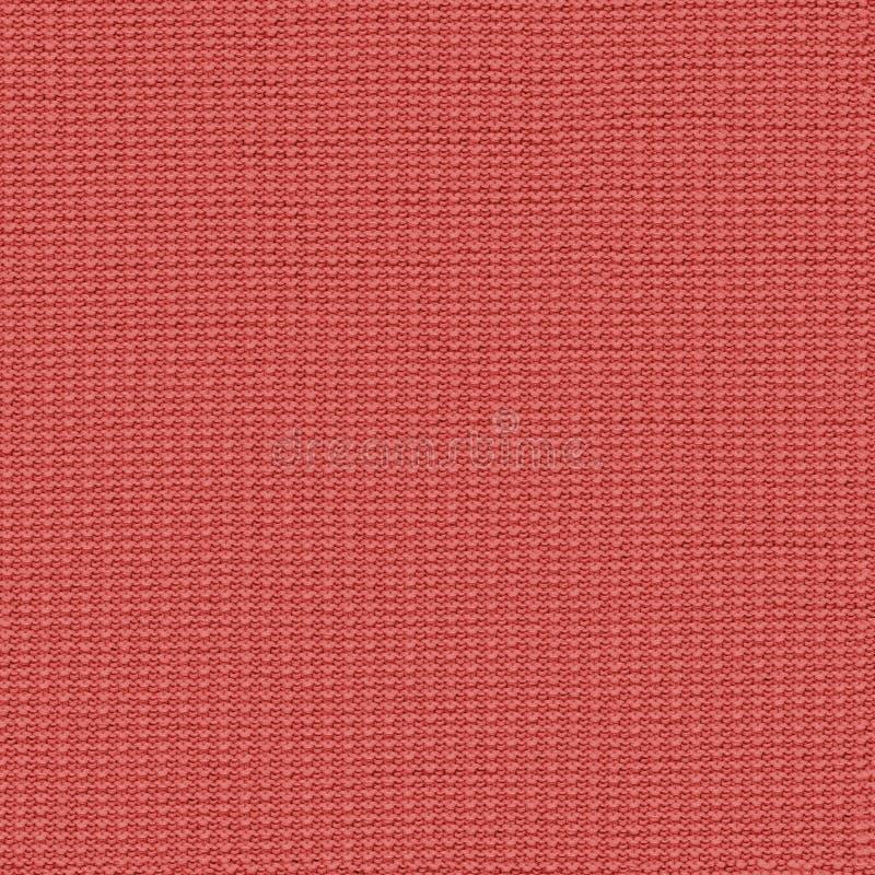 Koral trykotowej tkaniny bezszwowa tekstura Tekstury mapa dla 3d i 2d obrazy stock