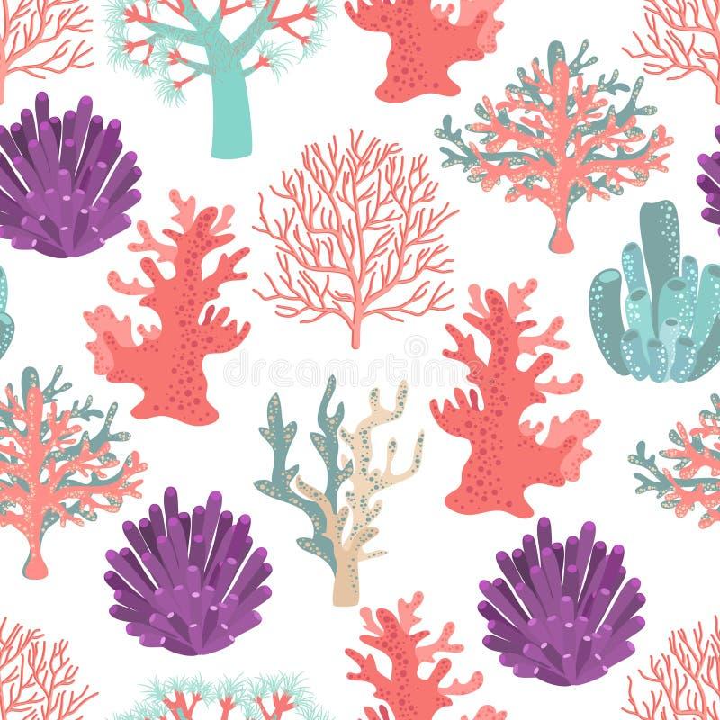 Koralen naadloos patroon royalty-vrije illustratie