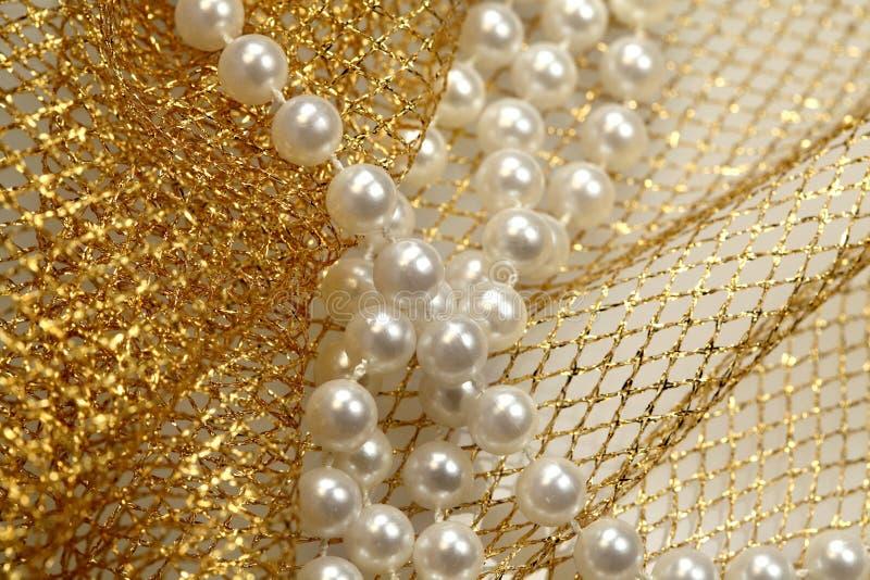 koralików bożych narodzeń dekoraci perła obrazy stock