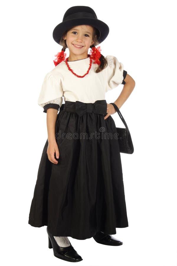 koralików duży dziewczyny kapeluszowa mała czerwień zdjęcia stock