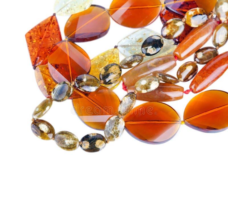 koralików różnych kopalin kamienny kolor żółty obraz stock
