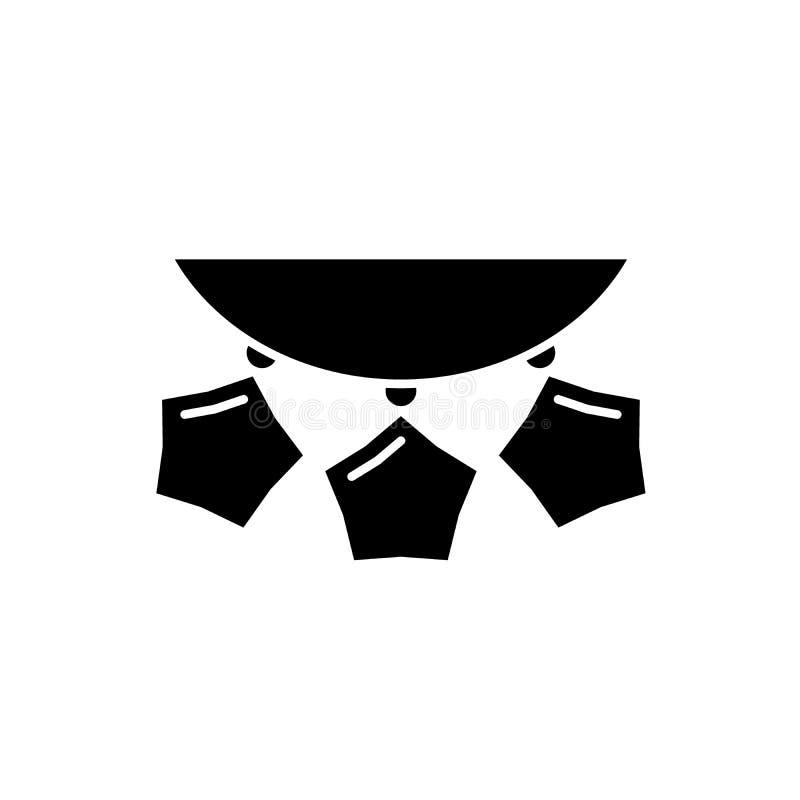 Koralik girlandy czarna ikona, wektoru znak na odosobnionym tle Koralik girland pojęcia symbol, ilustracja ilustracji