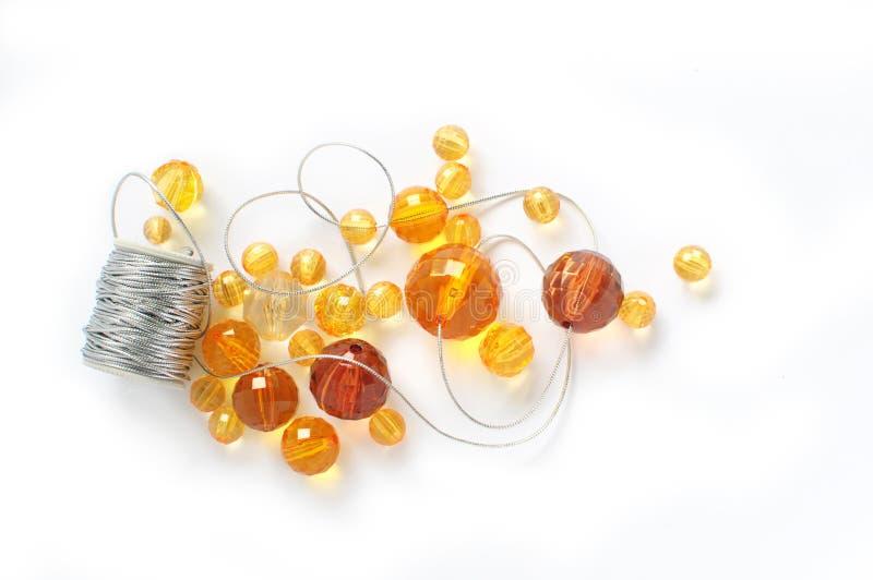 koraliki pomarańczowi zdjęcie royalty free