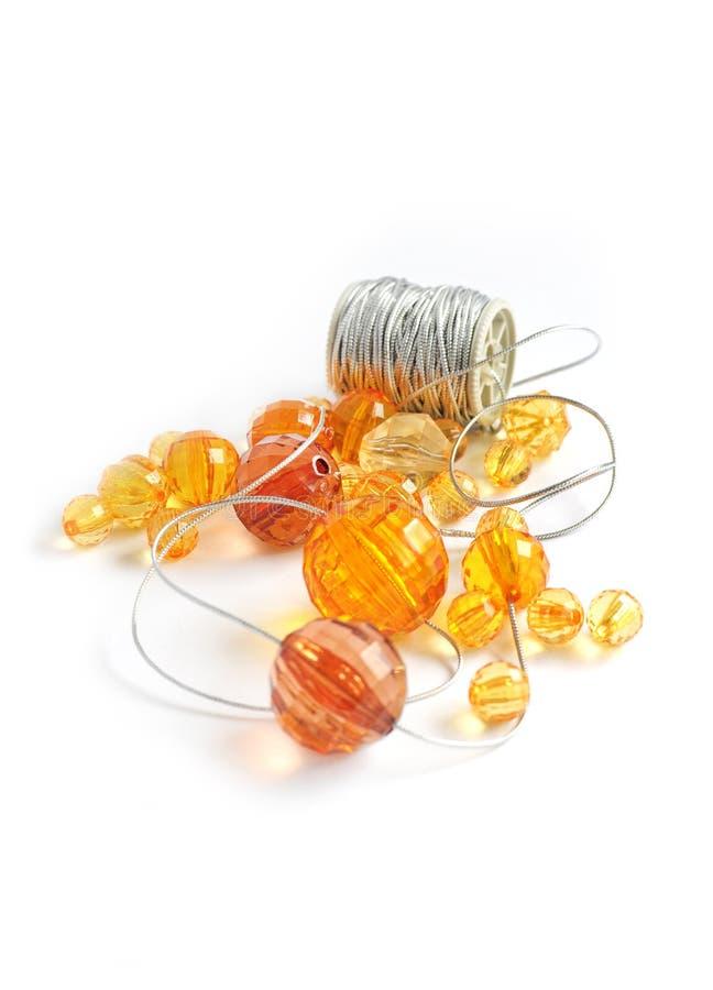 koraliki pomarańczowi obrazy stock