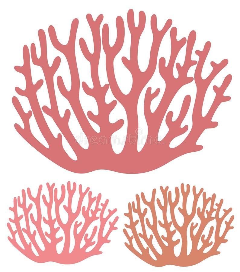 korall stock illustrationer