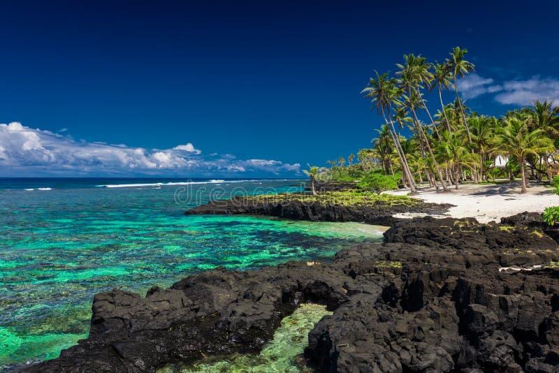 Korallenriff auf Upolu, Samoa-Inseln stockfoto