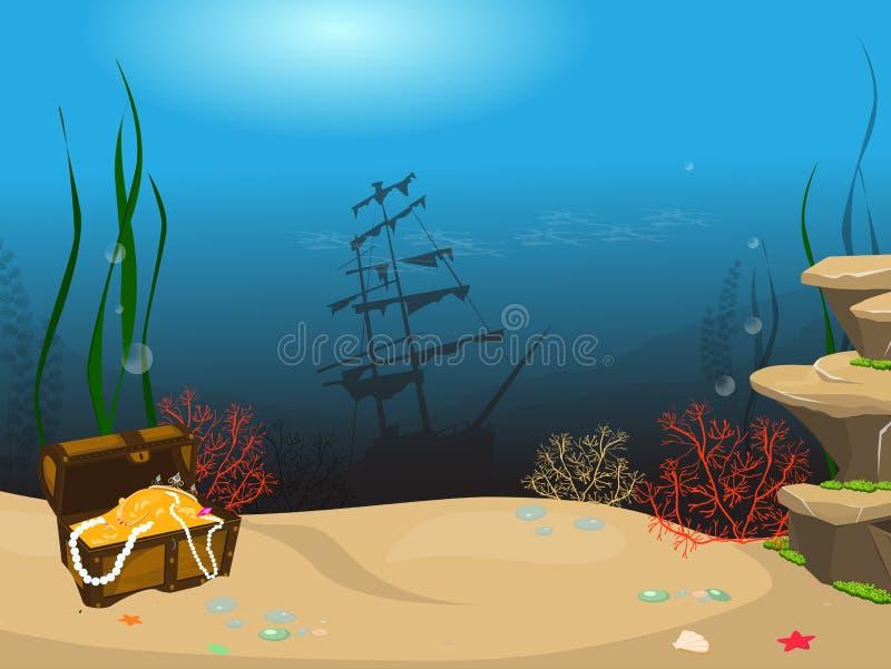 Korallenriff und tropische Fische stock abbildung