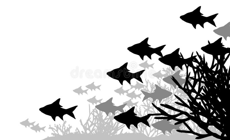 korallfisk stock illustrationer
