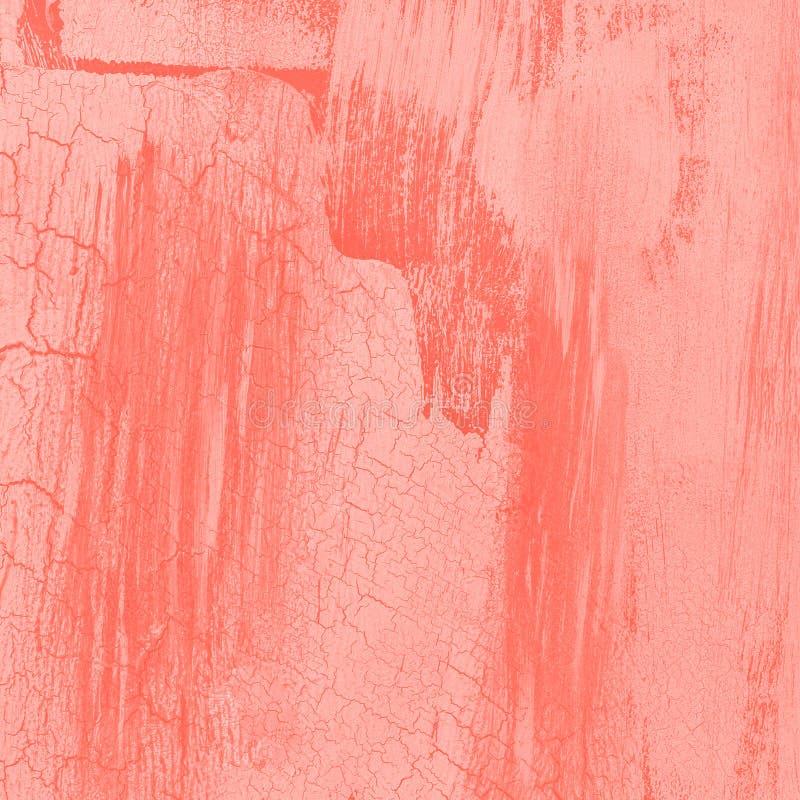 KORALLväggtextur eller bakgrund, purpurfärgad stuckatur arkivbild