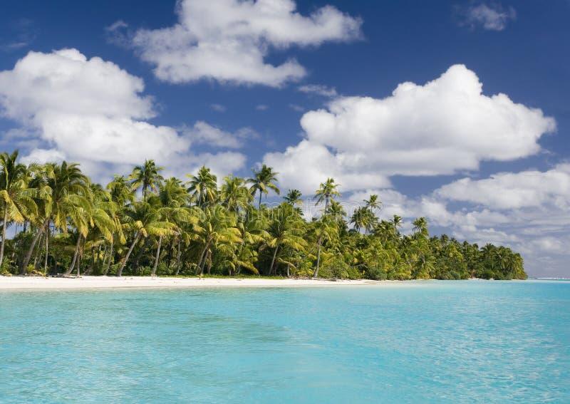 Koralowa Wyspa Kucbarskie Wyspy - Aitutaki - obraz royalty free