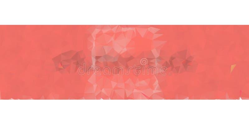 Koralowy kolor premii tło Bogaty t?o, premia tr?jboka wielobok?w koralowy czerwony projekt ilustracja wektor