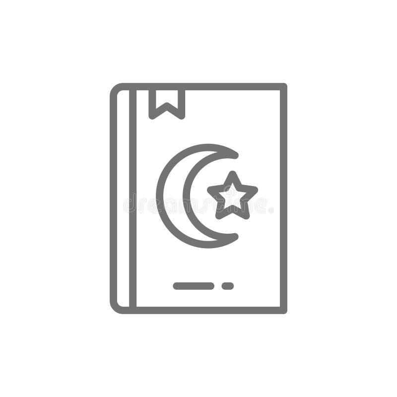Koran, koran, święta księga dla muslims wykłada ikonę ilustracji
