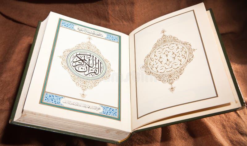 Koran, Heilige Schrift stockbild