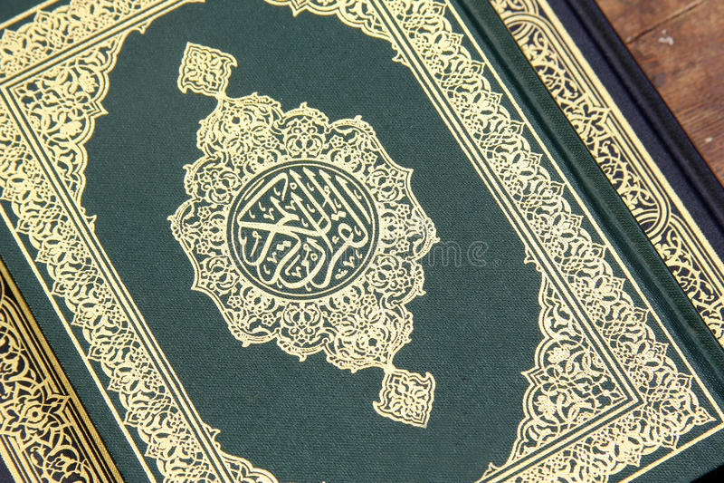 Koran holy book. Koran or quran, holy book on Islam religion stock images