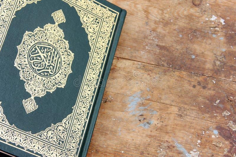 Koran holy book. Koran or quran, holy book on Islam religion stock photo