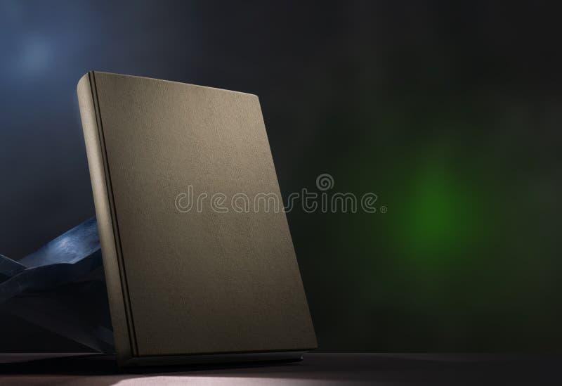 Koran i drewniany placemat na stole zdjęcie royalty free