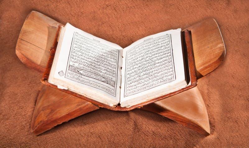 Koran, livro sagrado fotografia de stock