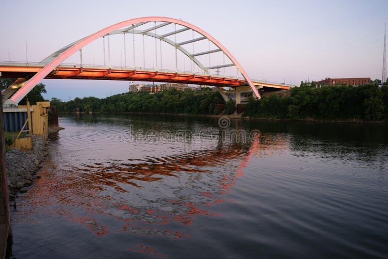 Koran Veterans Blvd Bridge Cumberland River Nashville Tennessee stock images