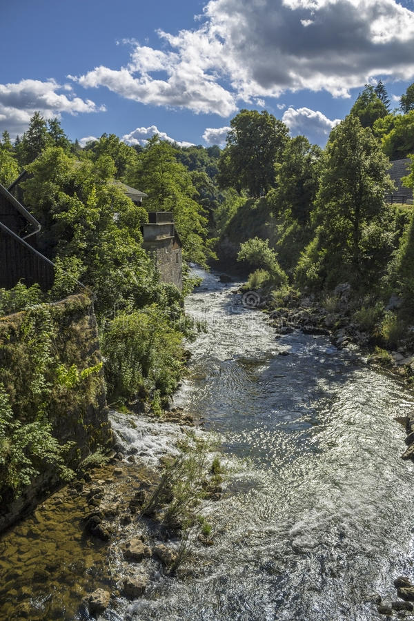 Korana del río en Rastoke foto de archivo libre de regalías