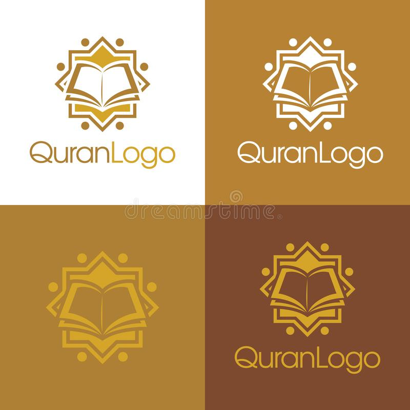 Koranu logo i ikona - Wektorowa ilustracja zdjęcie stock