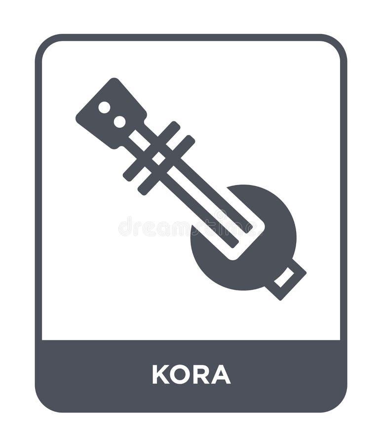 korasymbol i moderiktig designstil korasymbol som isoleras på vit bakgrund enkelt och modernt plant symbol för koravektorsymbol f vektor illustrationer