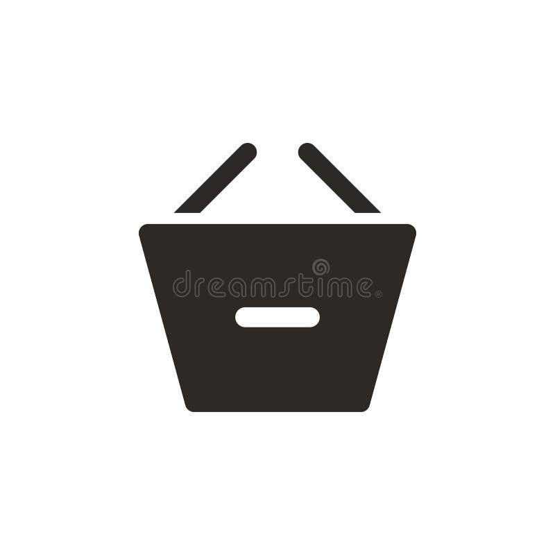Korb, entfernen, Einkaufsvektorikone Einfache Elementillustration von UI-Konzept Korb, entfernen, Einkaufsvektorikone finanzierun stock abbildung