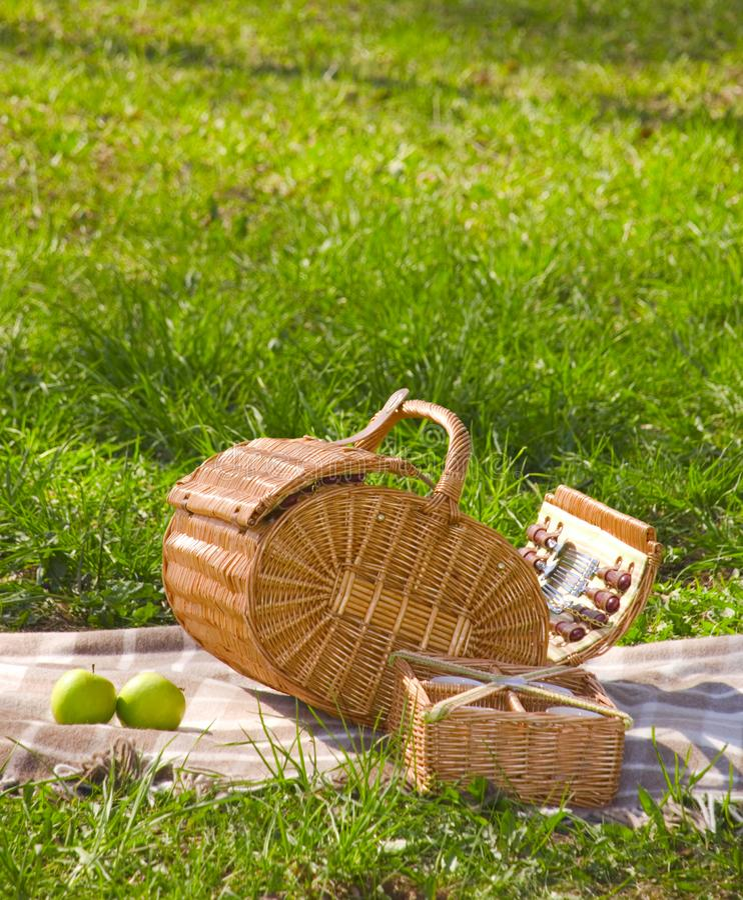 Korb für das picnic2 stockbild