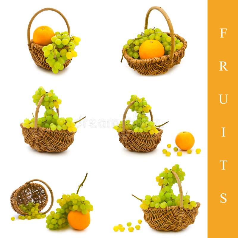 Korb mit Früchten stockbilder