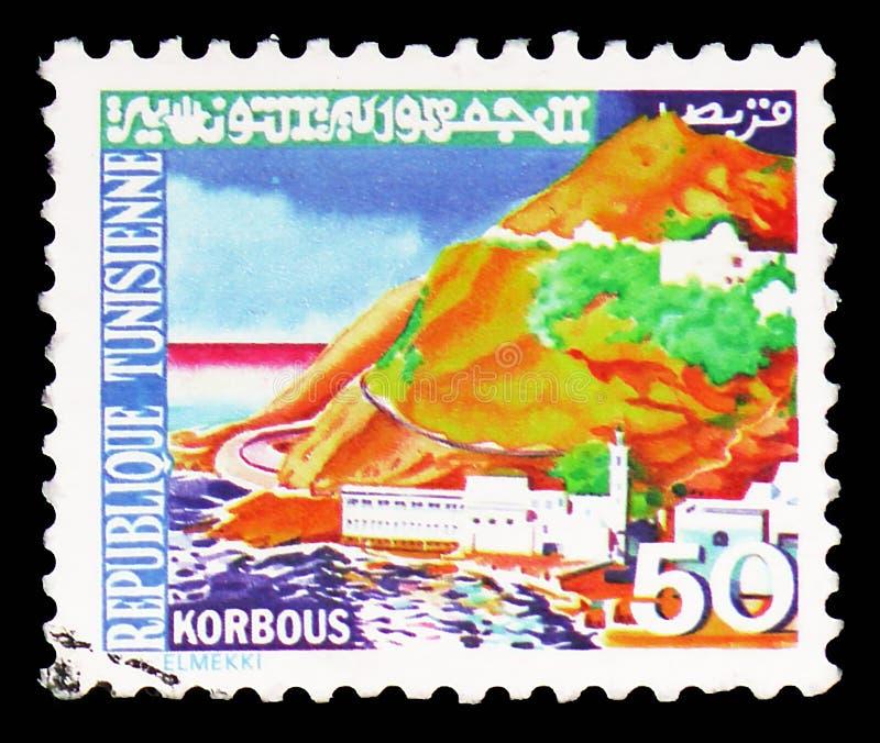 Korbous, χαρακτηριστικά τυνησιακά τοπία serie, circa 1979 στοκ φωτογραφία με δικαίωμα ελεύθερης χρήσης