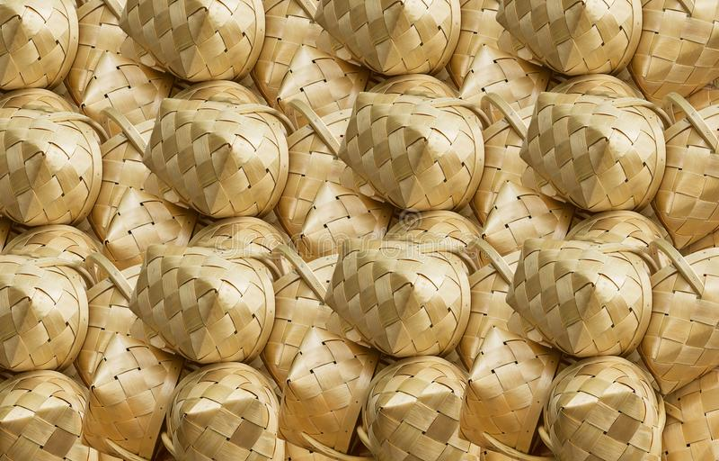Korbwarenmuster, rustikale Beschaffenheit des Birkenkorbstroh-Hintergrundes lizenzfreie stockfotografie
