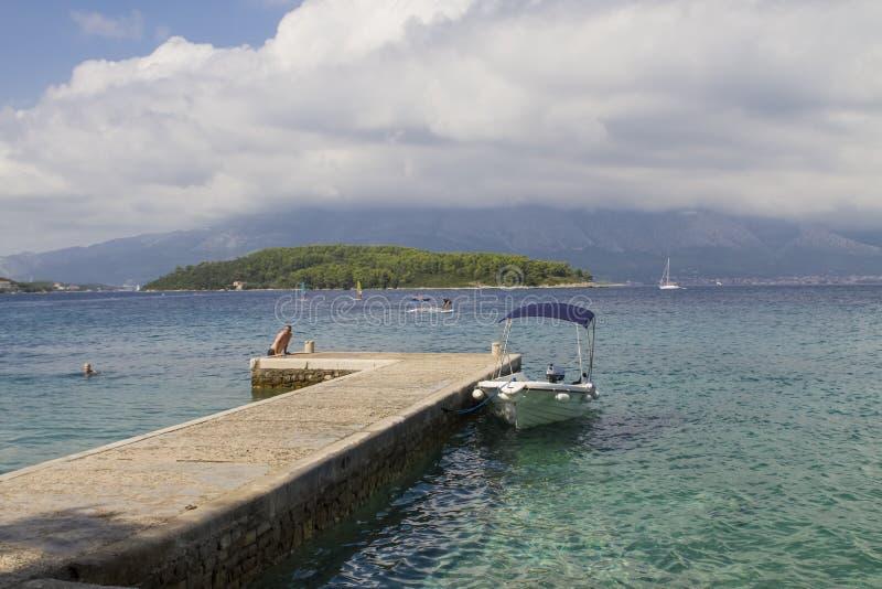 Korcula海岛,克罗地亚 免版税库存照片