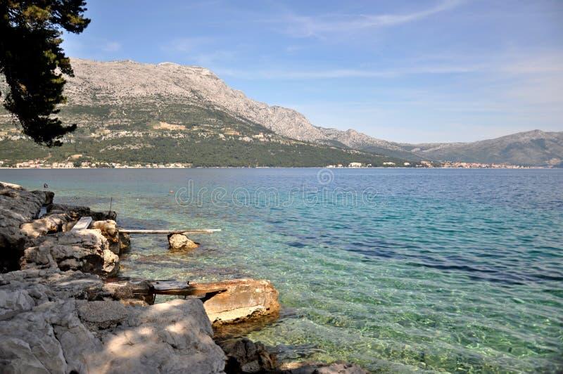 Korcula ö, Kroatien arkivbild