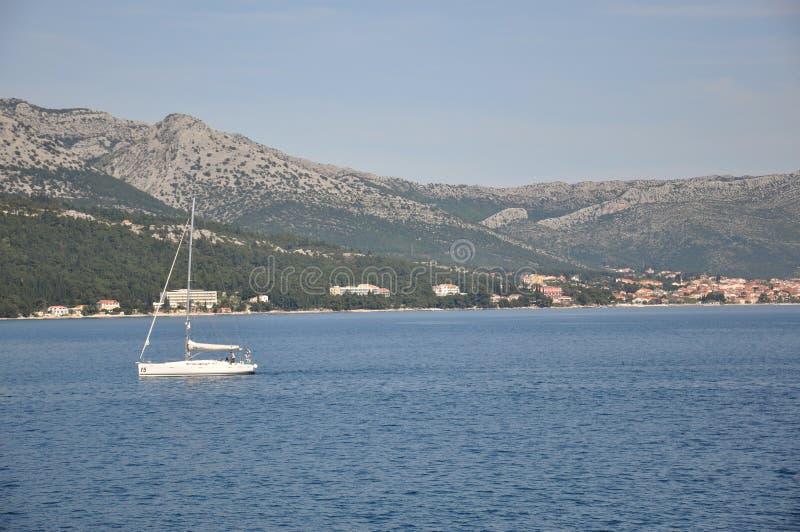 Korcula ö, Kroatien royaltyfria bilder