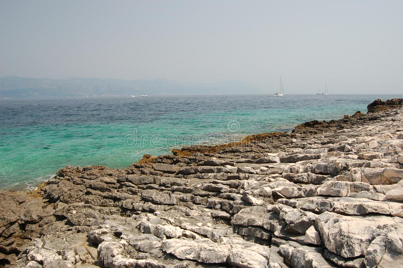 korcula νησιών της Κροατίας παρα&l στοκ φωτογραφία