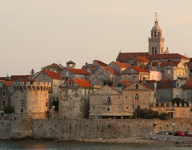 Korcula, Katedrala Svetog Marka, замок, Хорватия стоковая фотография rf