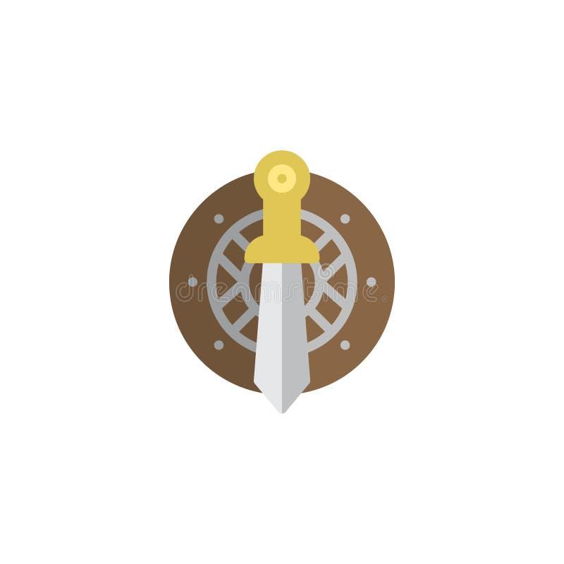 Kordzika i osłony mieszkania ikona royalty ilustracja