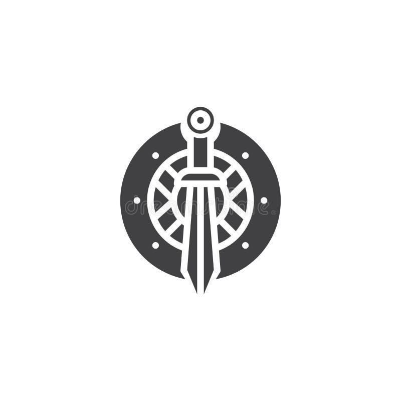 Kordzika i osłony wektoru ikona ilustracja wektor