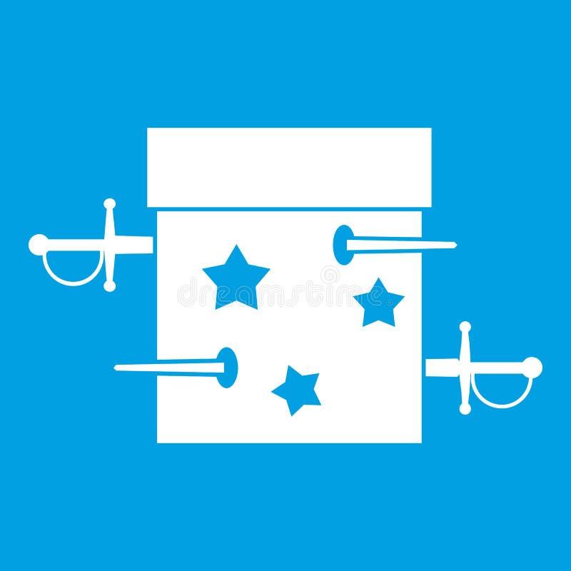 Kordzika złudzenia ikony pudełkowaty biel ilustracji