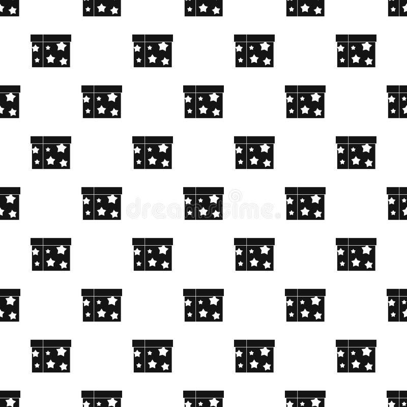 Kordzika złudzenia pudełkowaty wzór, prosty styl ilustracja wektor